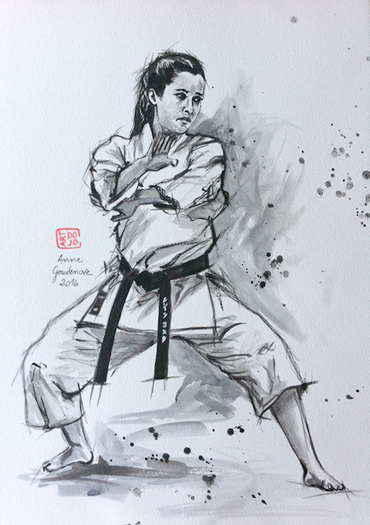 Carte Karate Art Painting